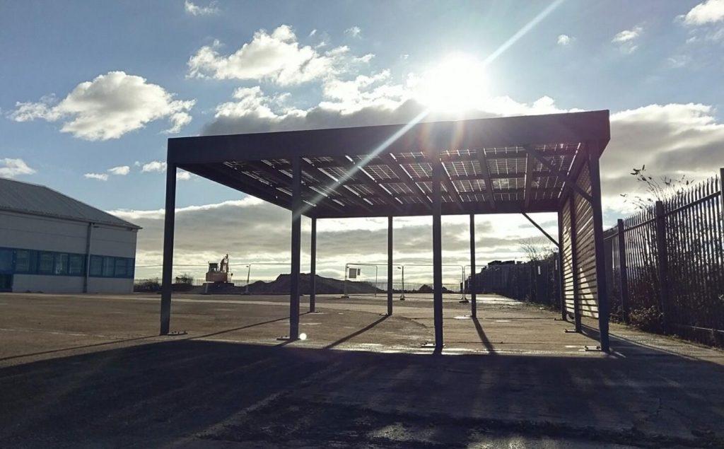 commercial ev-port installation
